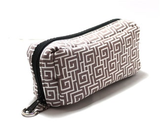 Essential Oil Case Holds 10 Bottles Essential Oil Bag Cove Fretwork Gray