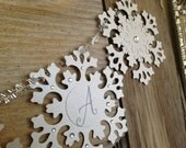 FROZEN Snowflake GARLAND Banner - custom garland with choice of text - priced per letter - PRIORITY Mail Shipping