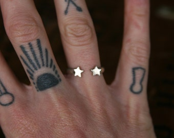 Celestial Double Star Ring