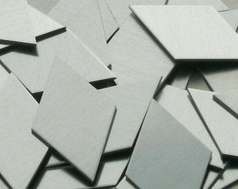 Aluminum Diamonds - 14 Gauge,metal stamping blanks, geometric blanks, hand stamping blanks, stamping supplies, Bopper, embossing, etching