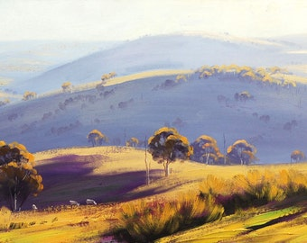 Printable paintings wall art prints from my Original Oil Painting Australian Landscape