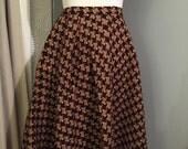 Vintage Plaid Wool Full Skirt - Nelly de Grab