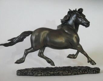 "Welsh Cob stallion ""Benedyct"" resin horse sculpture"