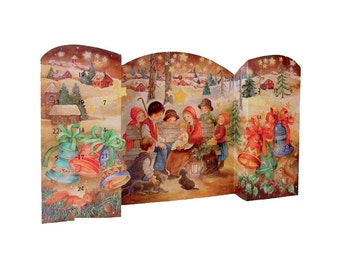 Large Advent Calendar Spain Childrens Nativity 3-D Standing Christmas