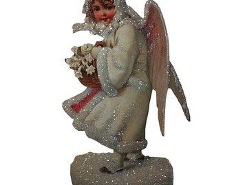 Easel Back Die Cut Christmas Snow Angel Card Made In USA Scrapbooking Card Making  CD 010