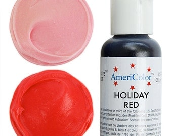 Americolor Holiday Red Gel Paste Food Color - high quality food coloring for icing, frosting, cookie dough and more