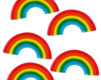 Rainbow Sugars - edible sugar rainbows for decorating cupcake, cakes, cookies, and cakepops
