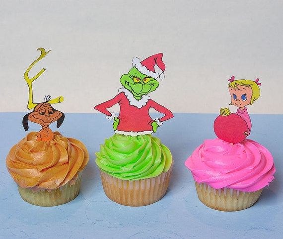 Whoville Character Cupcake Toppers