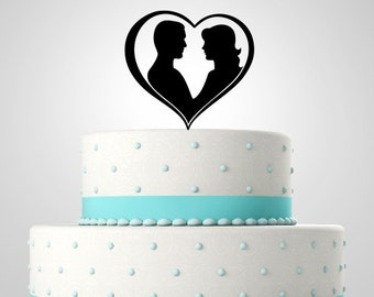 Acrylic Cake Topper,Wedding Cake Topper,Personalized Cake Topper,CT2