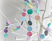 Mini circle Pretty Pastel Circle decorative garland banner geometric confetti