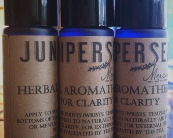 Herbal Roll-On Aromatherapy For Clarity - For Mind, Spirit, and Emotion