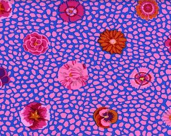 Kaffe Fassett Guinea Flower Pink Fabric 1 yard