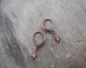 faceted lavender earrings