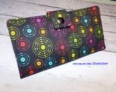 Handmade Long Wallet  BiFold Clutch -Vegan Wallet - periodic elements science wallet