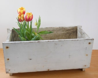 Vintage Wood Planter Box • Shabby Flower Box