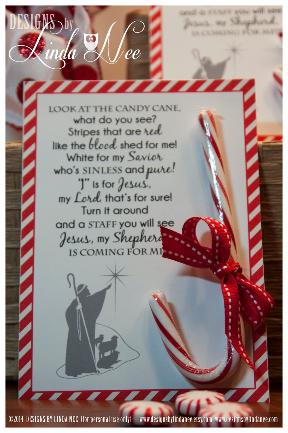 Legend of the Candy Cane Card for Witnessing at Christmas