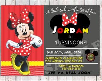 Mickey Mouse/Minnie Mouse invitation-PRINTABLE