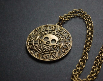Pirates of the Caribbean coin jack sparrow necklace