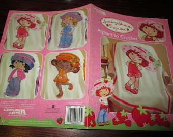Character Crochet Pattern Leaflet Strawberry Shortcake Afghans Leisure Arts 3848 Crochet Pattern Leaflet Rare and HTF