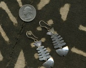 Vintage Sterling FISH Earrings GREAT MOVEMENT