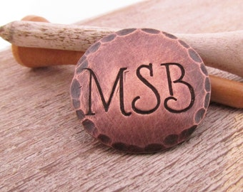Personalized Ball Marker  - Groomsman Gift - Copper Golf Ball Marker