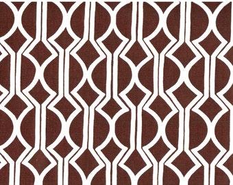 Clearance!  One Fat Quarter - Josi Severson - Original Screen Printed Canvas Organic Fabric - Oliver Brut Brown