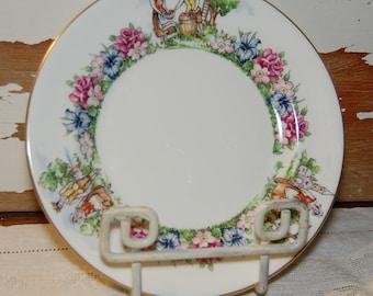 "Rare Crown Staffordshire Evangeline's Acadian Gardens 7"" Plate England Bone China"