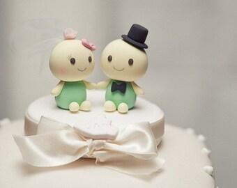 turtles Wedding Cake Topper---k625