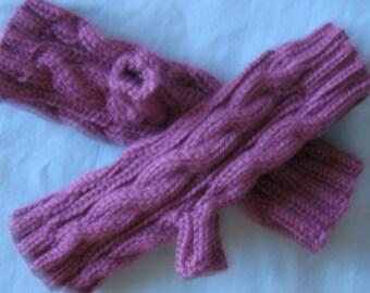 Country Rose Fingerless Gloves Hand Made