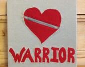 CHD Heart Warrior Zipper Heart Fabric Art
