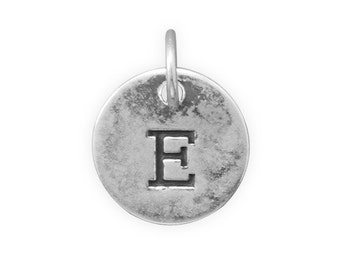 Letter Charms, Assorted Round Sterling Silver Letter Charms, Bracelet Charm, Necklace Pendant, Small Letter Charms, Jewelry, Initials