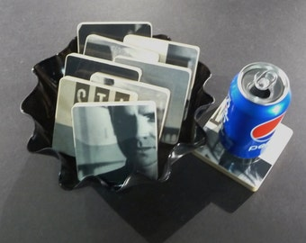 STING recycled The Dream of the Blue Turtles album cover coasters with vinyl bowl