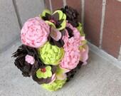 """15 Stem """"Felt So Pretty Bouquet"""" Felt Flower Bouquet"""