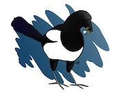 Magpie and Wedding Ring Card