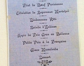 Antique French Menu January 6 1900