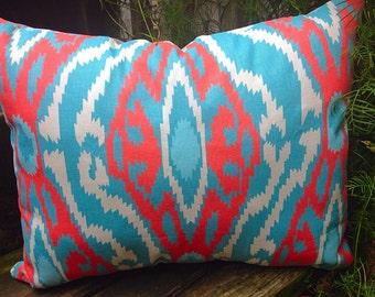 Pillow, ikat pillow, throw pillow, tribal pillow, pillow with pocket, accent pillow, trendy pillow, stuffed pillow, chevron pillow, medium
