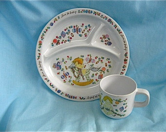 Vintage Enesco Plate and Cup