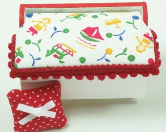 Red Toy Chest Nursery Furniture 1:12 Dollhouse Miniature 12th Artisan