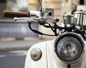 "Paris Photography, ""Moped"" Paris Print, Large Art Print Fine Art Photography"