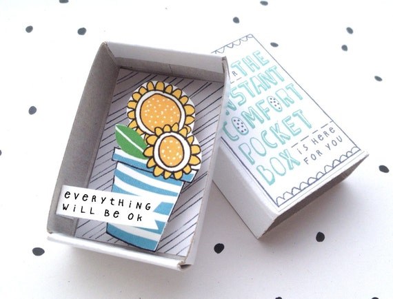 Sunny Sunflowers - The Instant Comfort Pocket Box  -  everything will be ok