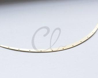 2pcs Raw Brass Curved Pendant - 160x7mm (1884C-U-225)