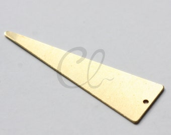 10pcs Raw Brass Triangle Charm - 50x16mm (1890C-U-229)