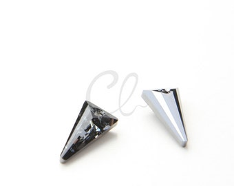 One Piece Swarovski Drop 6480 Spike - SILVER NIGHT CRYSTAL 18mm (1805001)