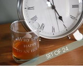 TWENTY FOUR Personalized Engraved Glasses