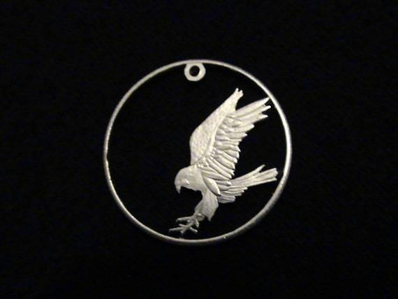 Cut Coin Jewelry - Palestine - 2010 - w/ Barbary Falcon