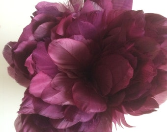 PRIMA GOOSE FEATHERS / Grape , Vintage Fig Purple  / P - 12