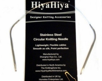 HiyaHiya Stainless Steel Circular Needles x 12ins / 30cm 1.5mm - 4.00mm