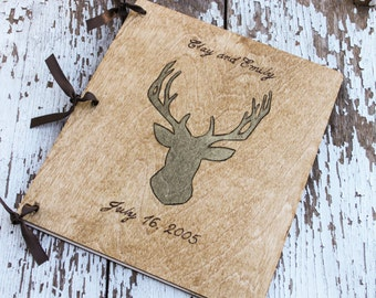 Custom Wedding Guest Book - Deer