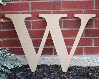 """24"""" Inch Unfinished Large Wood Letter for Indoor or Outdoor Use"""