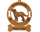 3239 Goldendoodle Standing 2 Personalized Ornament Personalized with Your Dog's Name